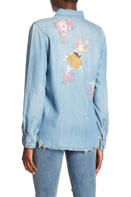 Etienne Marcel L/S Embroidered Denim Shirt