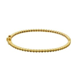 Freida Rothman Signature Bezel Pav Hinge Bangle