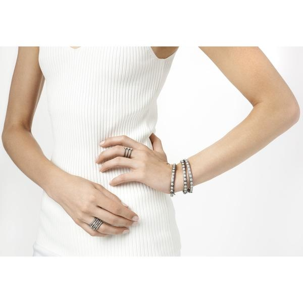 Freida Rothman Signature Studded Eternity Hinge Bangle