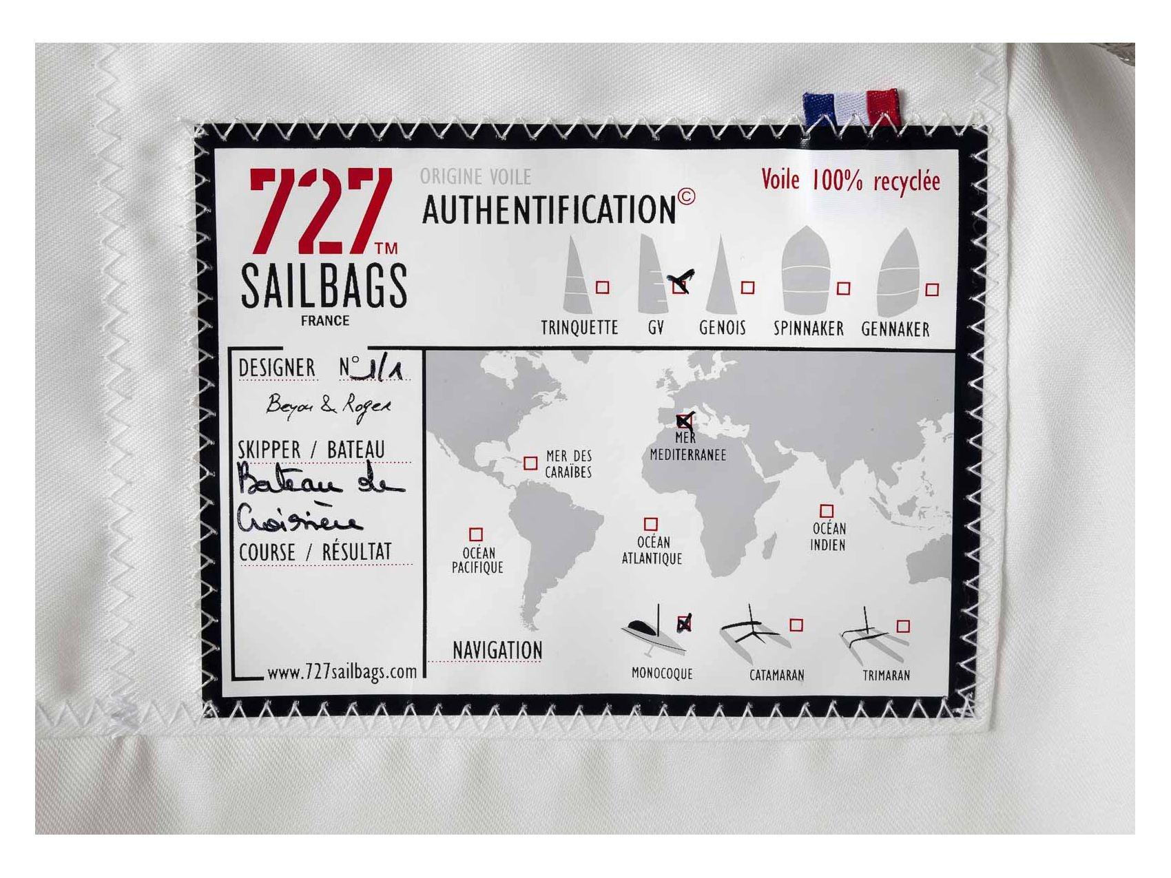 727 Sailbags Sam Striped Tote