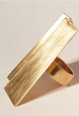 Louven CUBIST BRASS RING