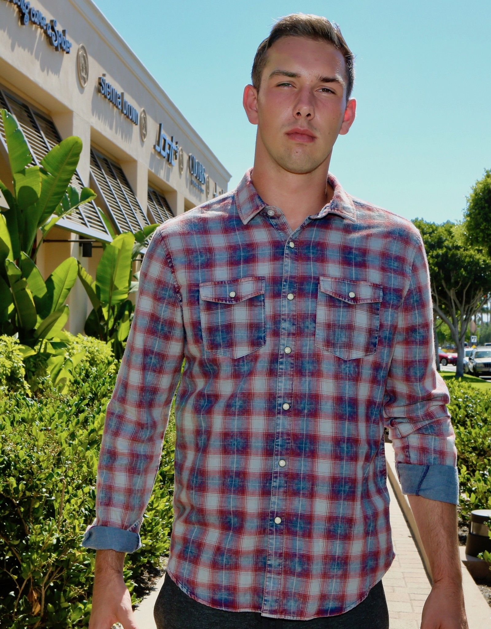Slate Long Sleeve Flannel