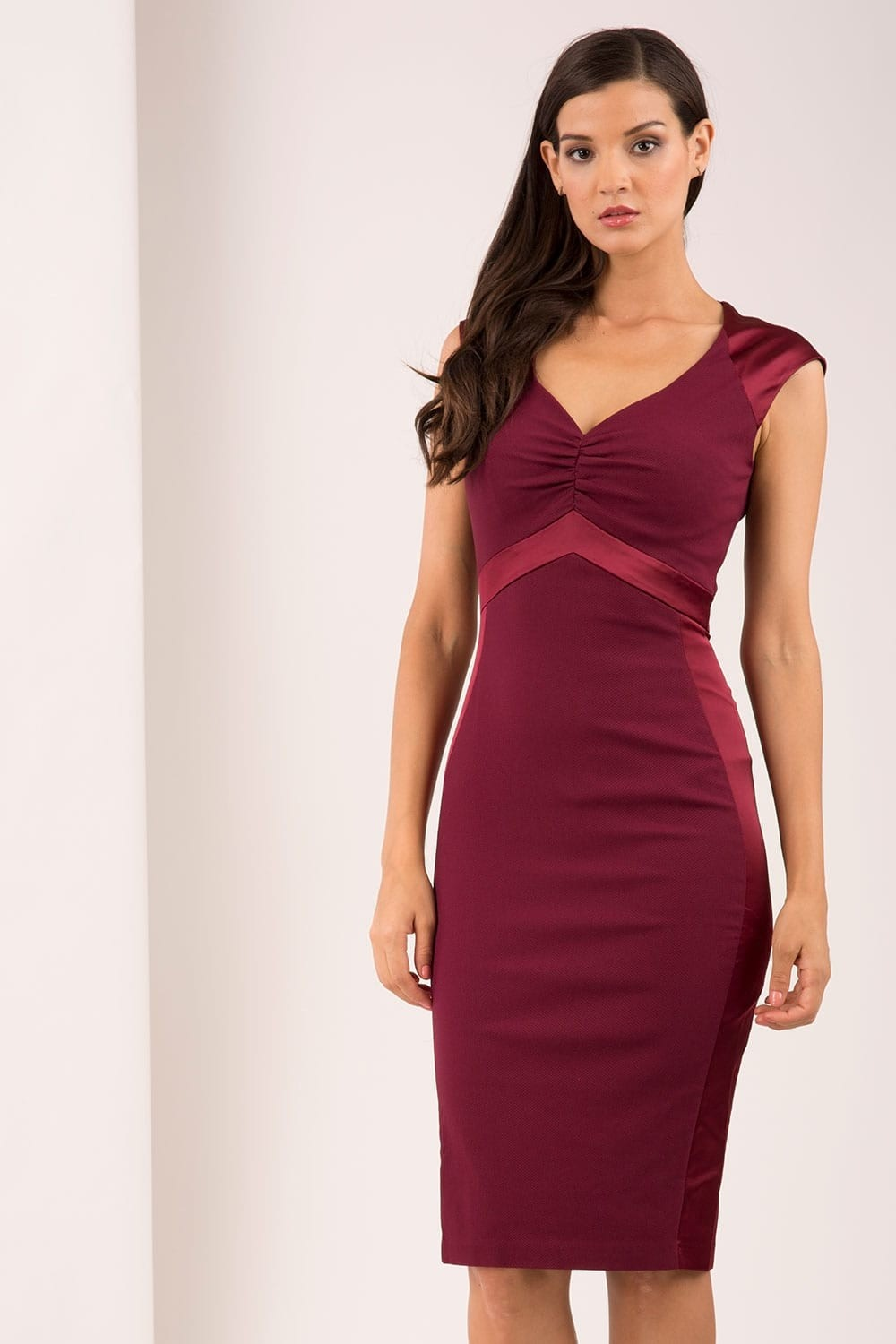 SALLY Dress Dark Wine 8