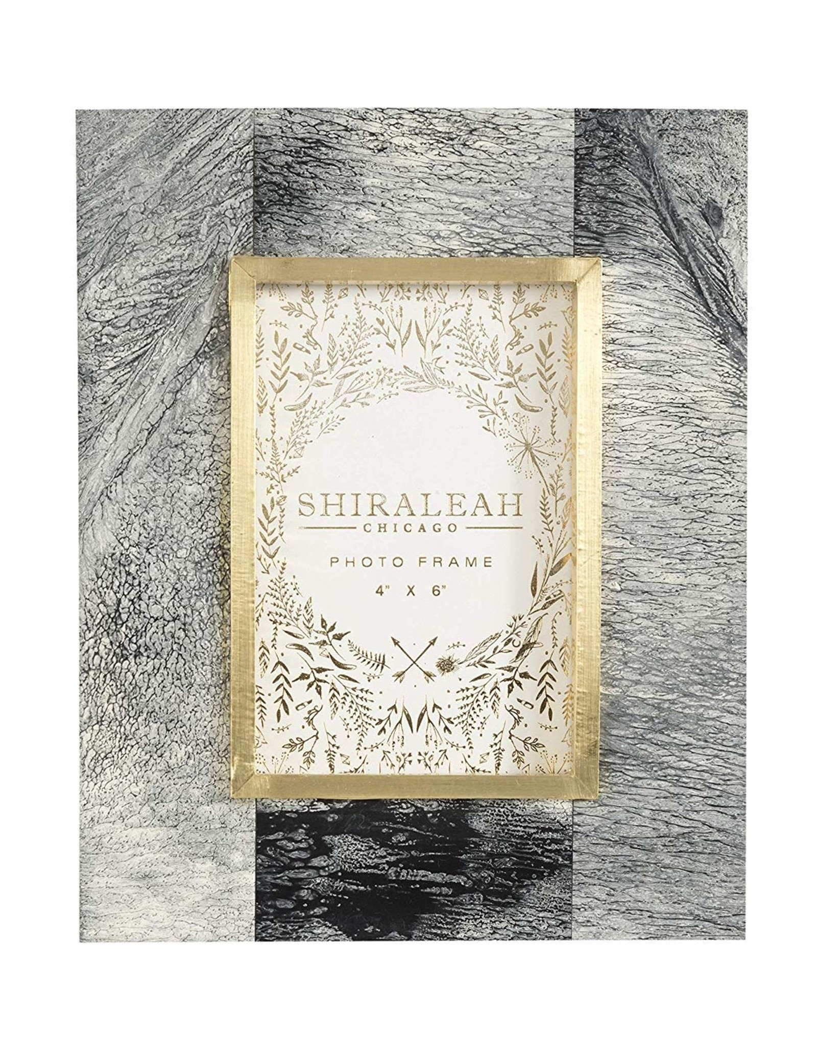 Shiraleah Chicago Marbleized 4x6 Picture Frame