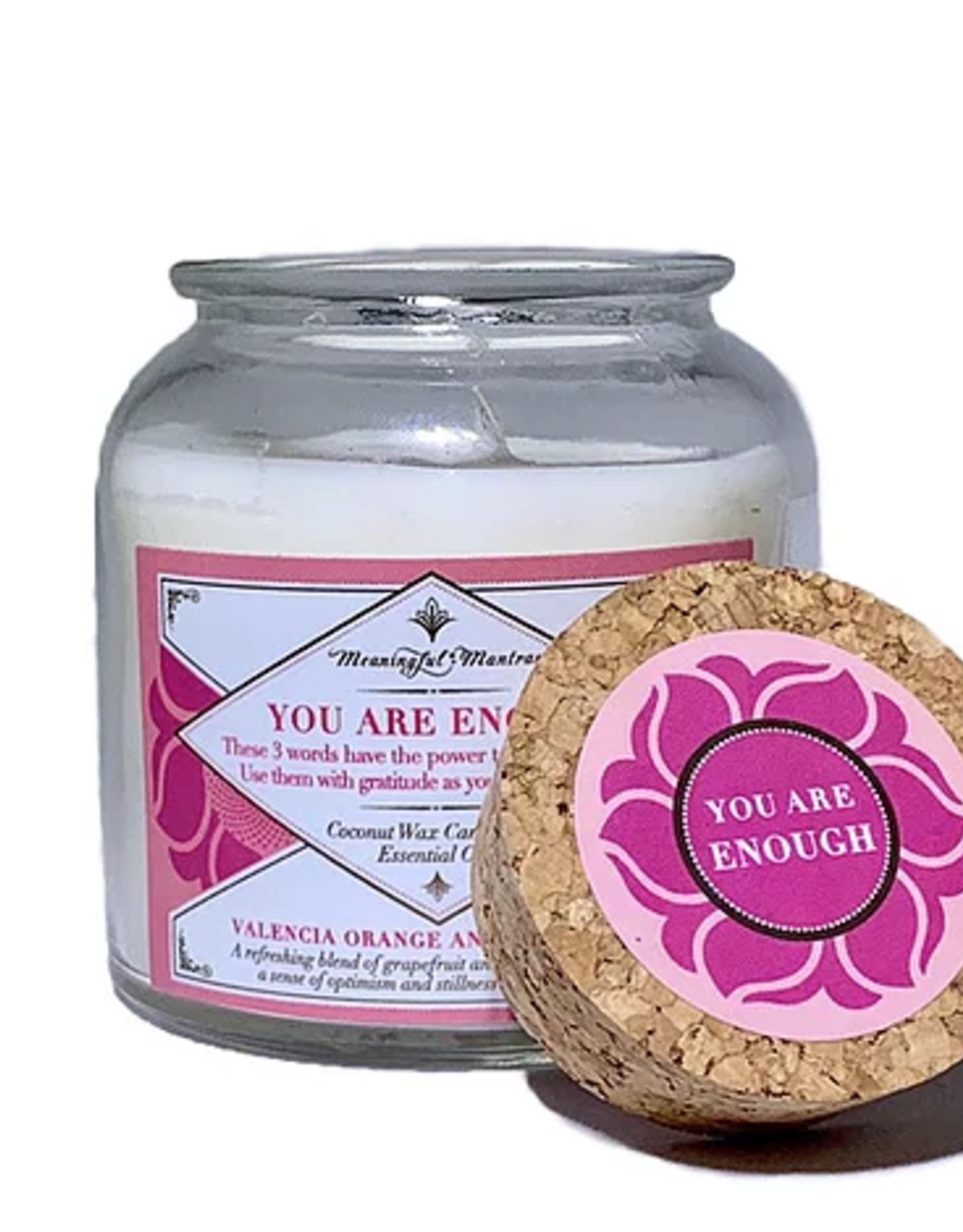 Meaningful Mantras Coconut Candle You Are Enough 6 oz