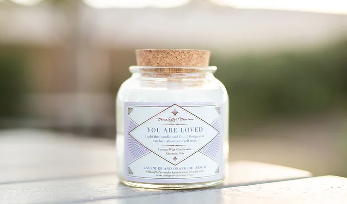 Meaningful Mantras Coconut Candle You Are Loved
