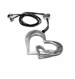 VESTOPAZZO Aluminum 2 Heart Necklace