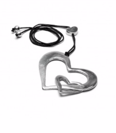 VESTOPAZZO Aluminum 2 Heart Necklace