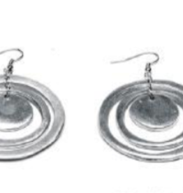 VESTOPAZZO Aluminum 3 Consentric Round Earrings