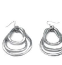 VESTOPAZZO Aluminum 3 Ring Earring