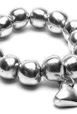 VESTOPAZZO Aluminum Ball Bracelet with Heart
