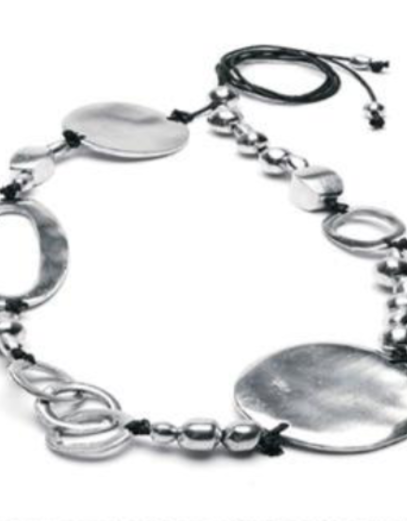 VESTOPAZZO Aluminum Irregular Circle Necklace