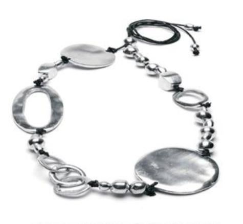 VESTOPAZZO Aluminum Irregular Circle Necklace