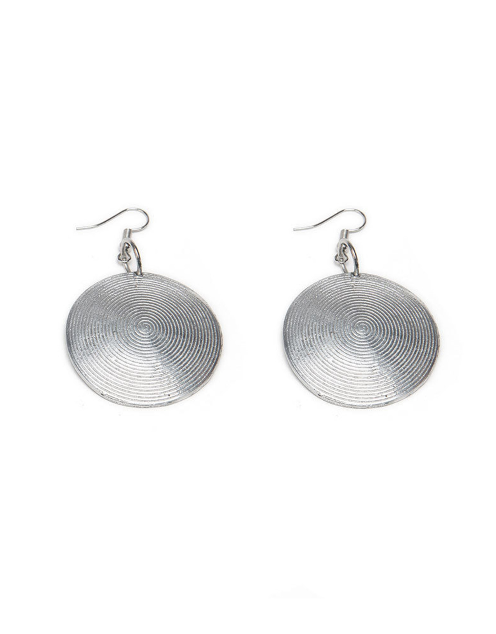 VESTOPAZZO Aluminum Round Spiral Earrings