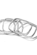 VESTOPAZZO Aluminum Square Bracelet Set 6pcs