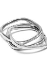 VESTOPAZZO Aluminum Square Chain Bracelet 1cm