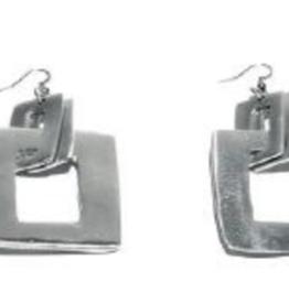 VESTOPAZZO Aluminum Square Earrings