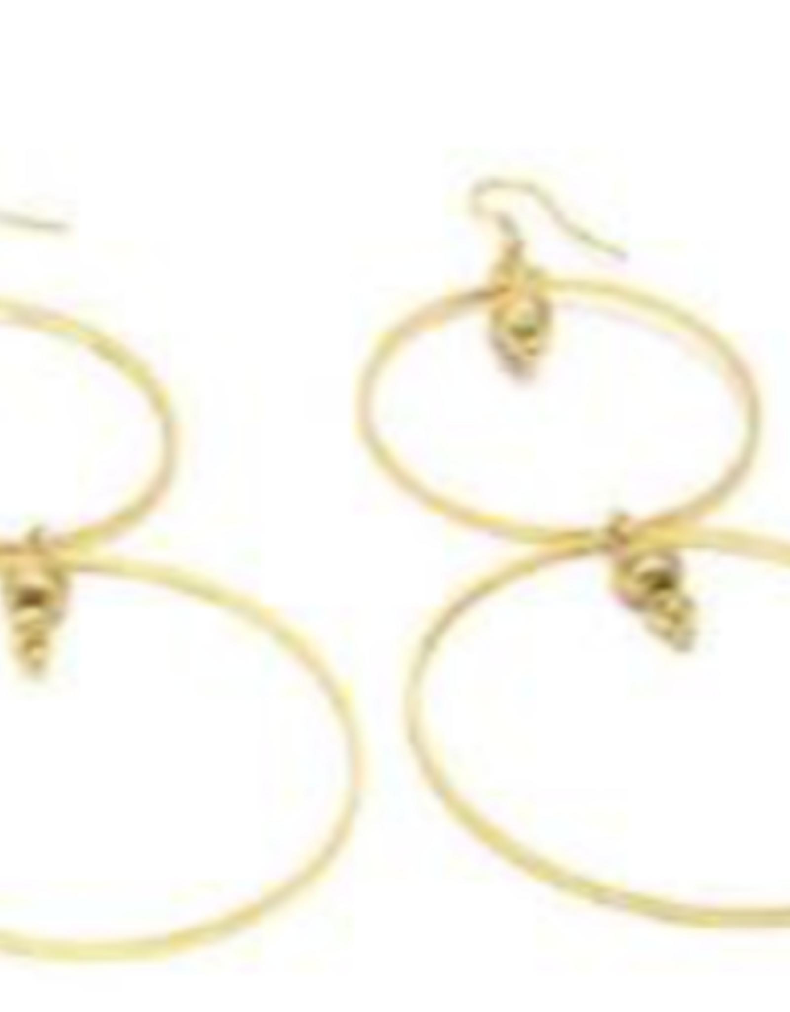 VESTOPAZZO Brass 2 Circle Earring