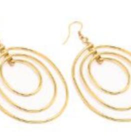 VESTOPAZZO Brass 3 Oval Earrings