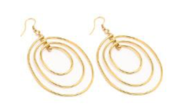 VESTOPAZZO Brass 3 Oval Earrings