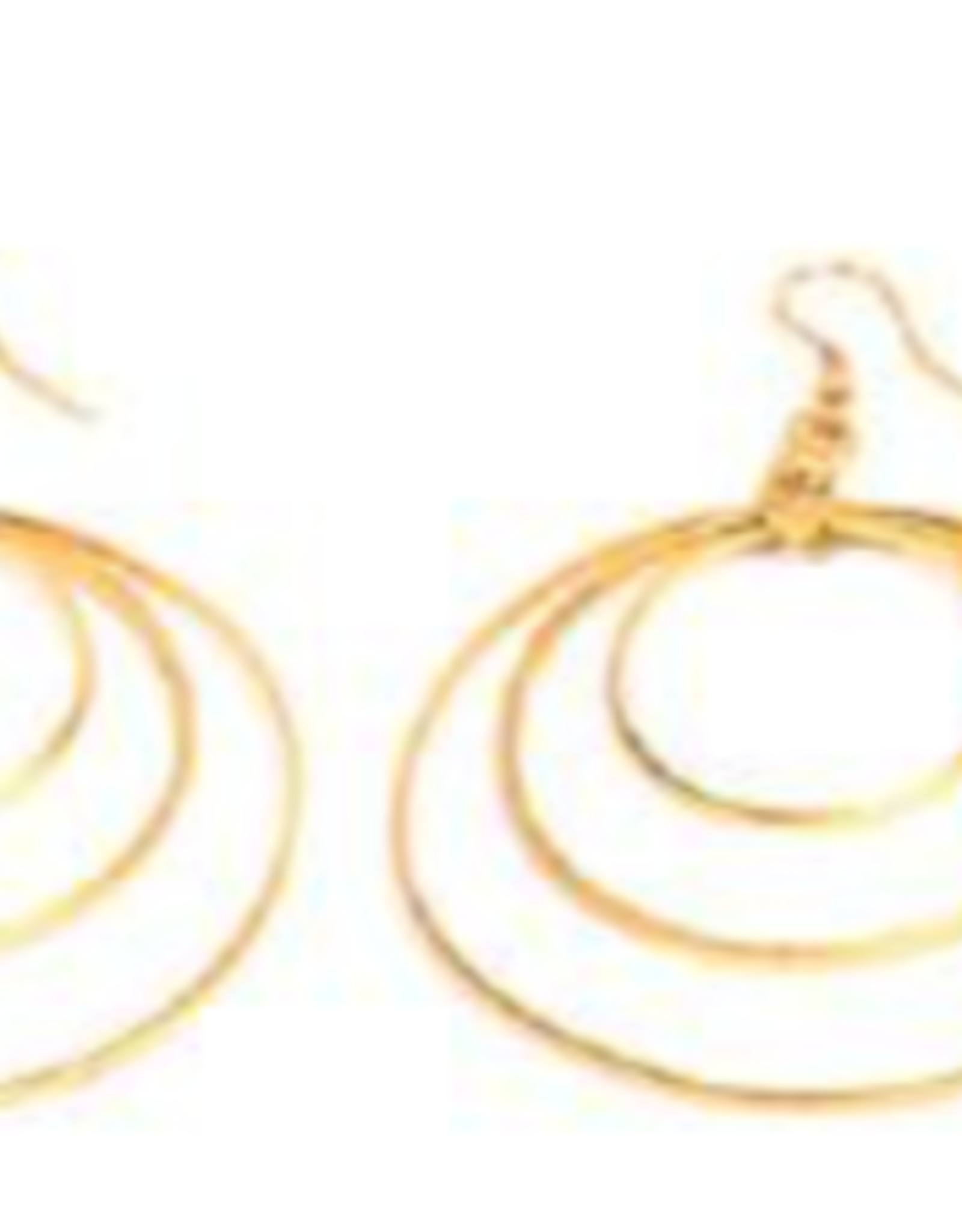 VESTOPAZZO Brass 3 Round Earring