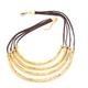 VESTOPAZZO Brass 4 Layer Necklace