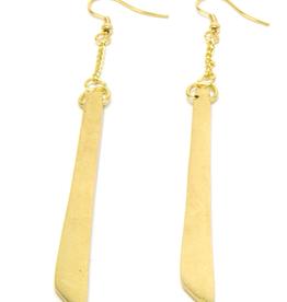 VESTOPAZZO Brass Bar Earrings
