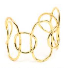 VESTOPAZZO Brass Connected Circle Bracelet