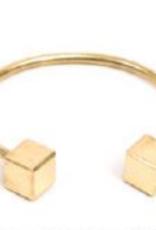 VESTOPAZZO Brass Cube Bracelet