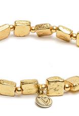 VESTOPAZZO Brass Cube Elastic Bracelet
