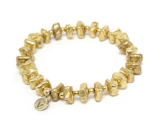 VESTOPAZZO Brass Elastic Candy Bracelet