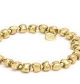 VESTOPAZZO Brass Elastic Nugget Bracelet