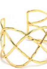 VESTOPAZZO Brass Intricate Cuff Bracelet