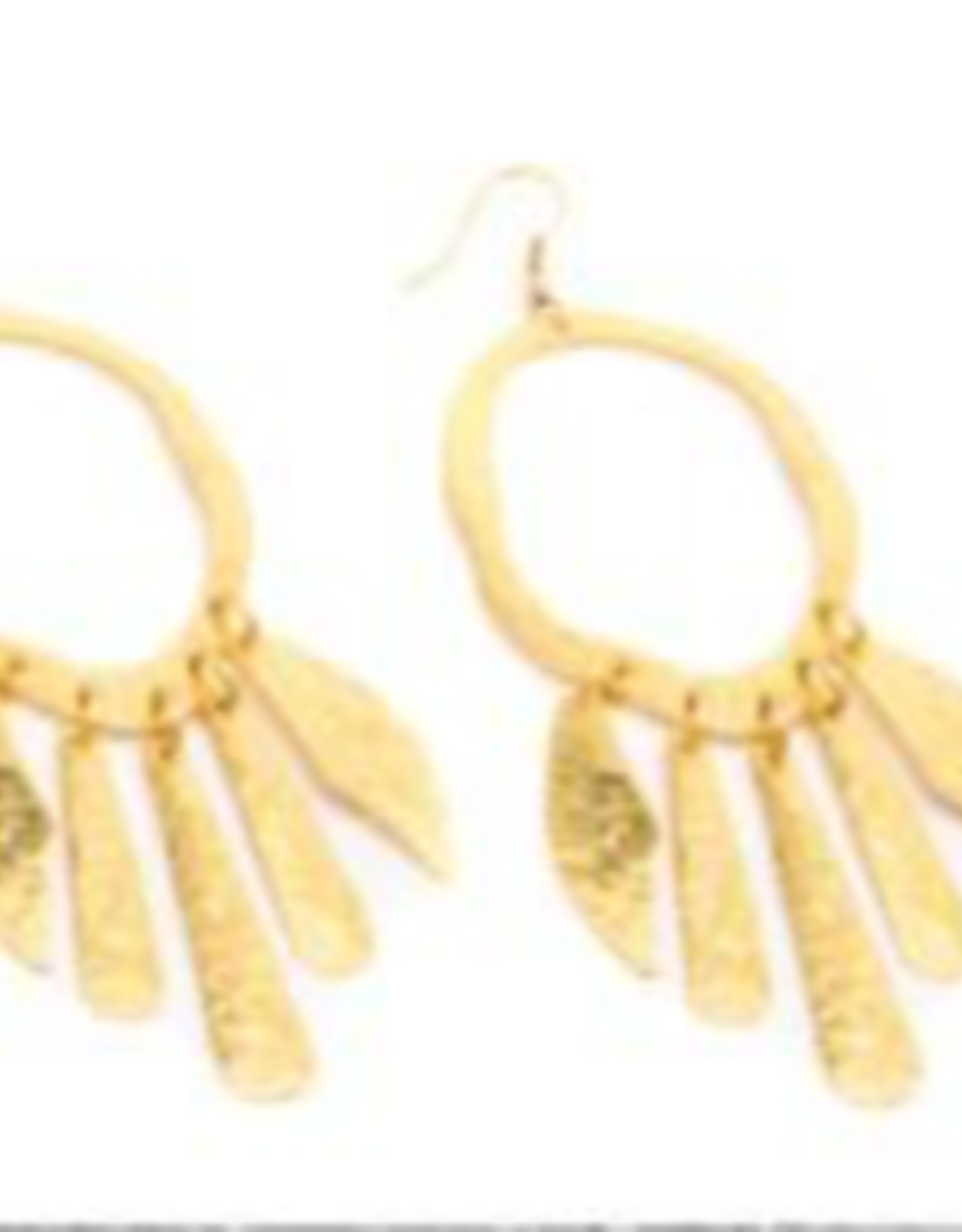 VESTOPAZZO Brass Irregular Ovals Earrings