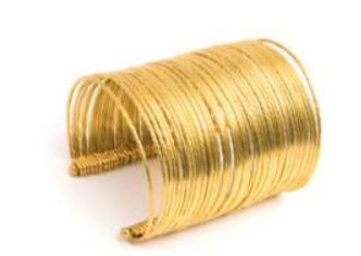 VESTOPAZZO Brass Large Cuff Bracelet