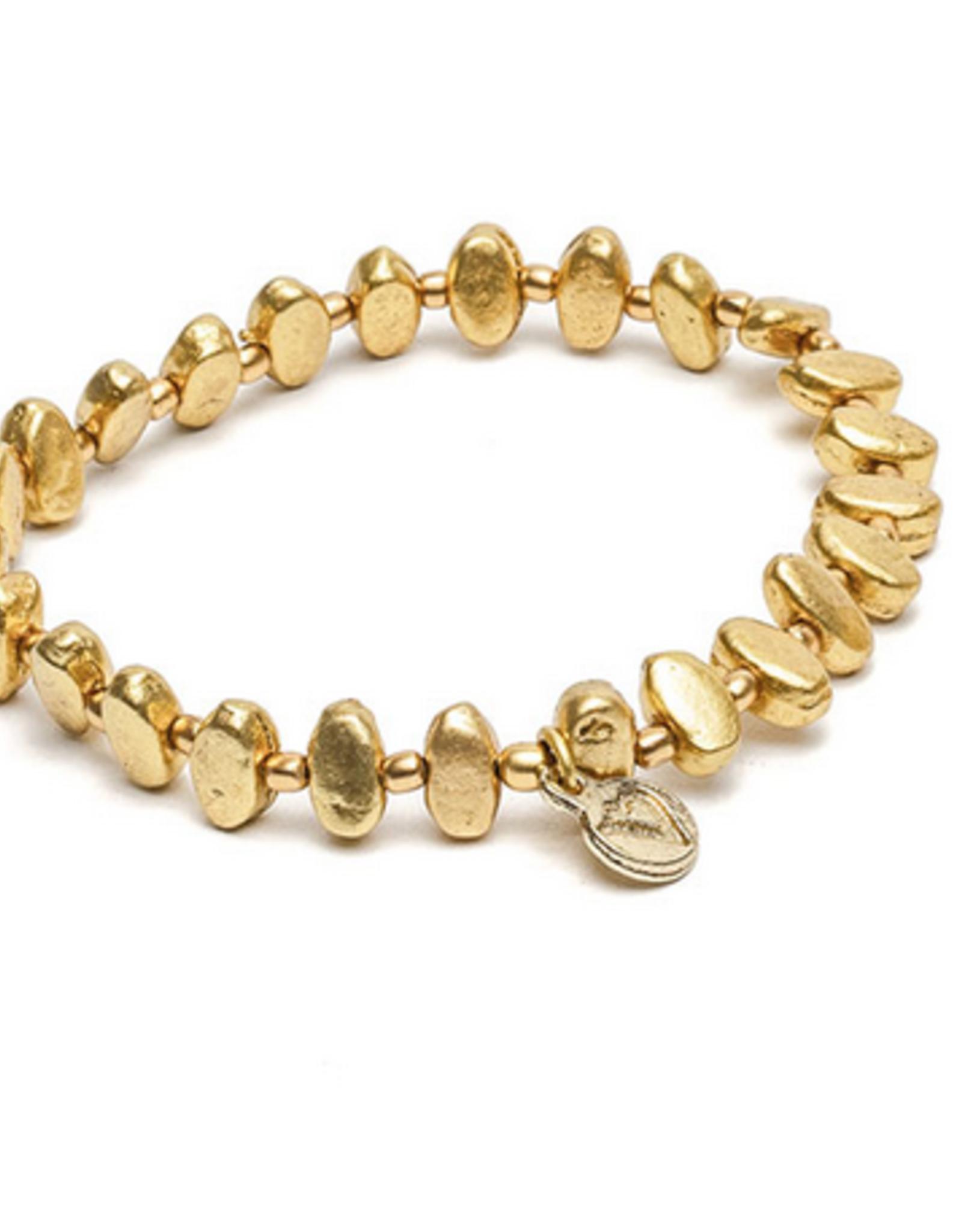 VESTOPAZZO Brass Oval Elastic Bracelet