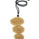 VESTOPAZZO Brass Tangled Wire Circle Necklace