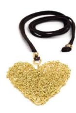 VESTOPAZZO Brass Tangled Wire Heart Necklace