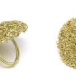 VESTOPAZZO Brass Tangled Wire Ring