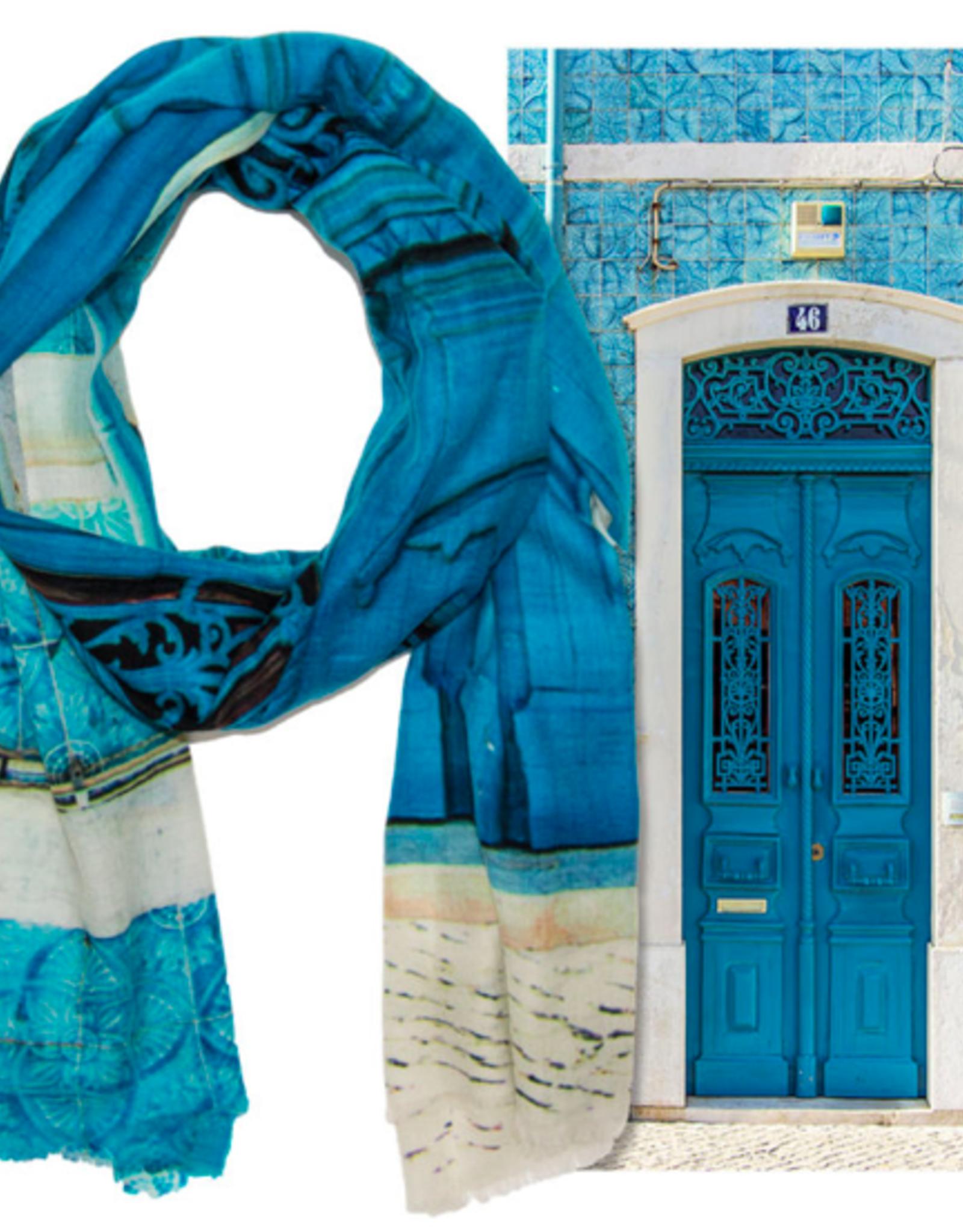 Wanderborn Artist Edition Scarf Caldas Blue