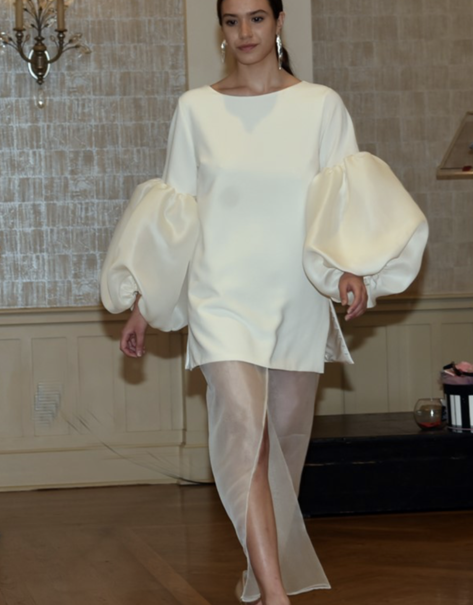 Roger Canamar Tunic with Puff Sleeves