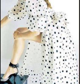 Roger Canamar Polka dot wrap dress