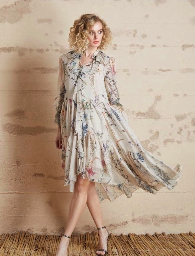 Le Fafo Chiffon Dress