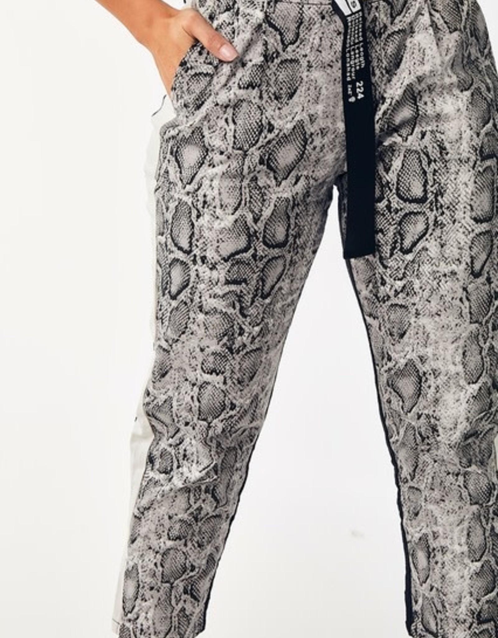 GOD Belted Snake Skin Pants