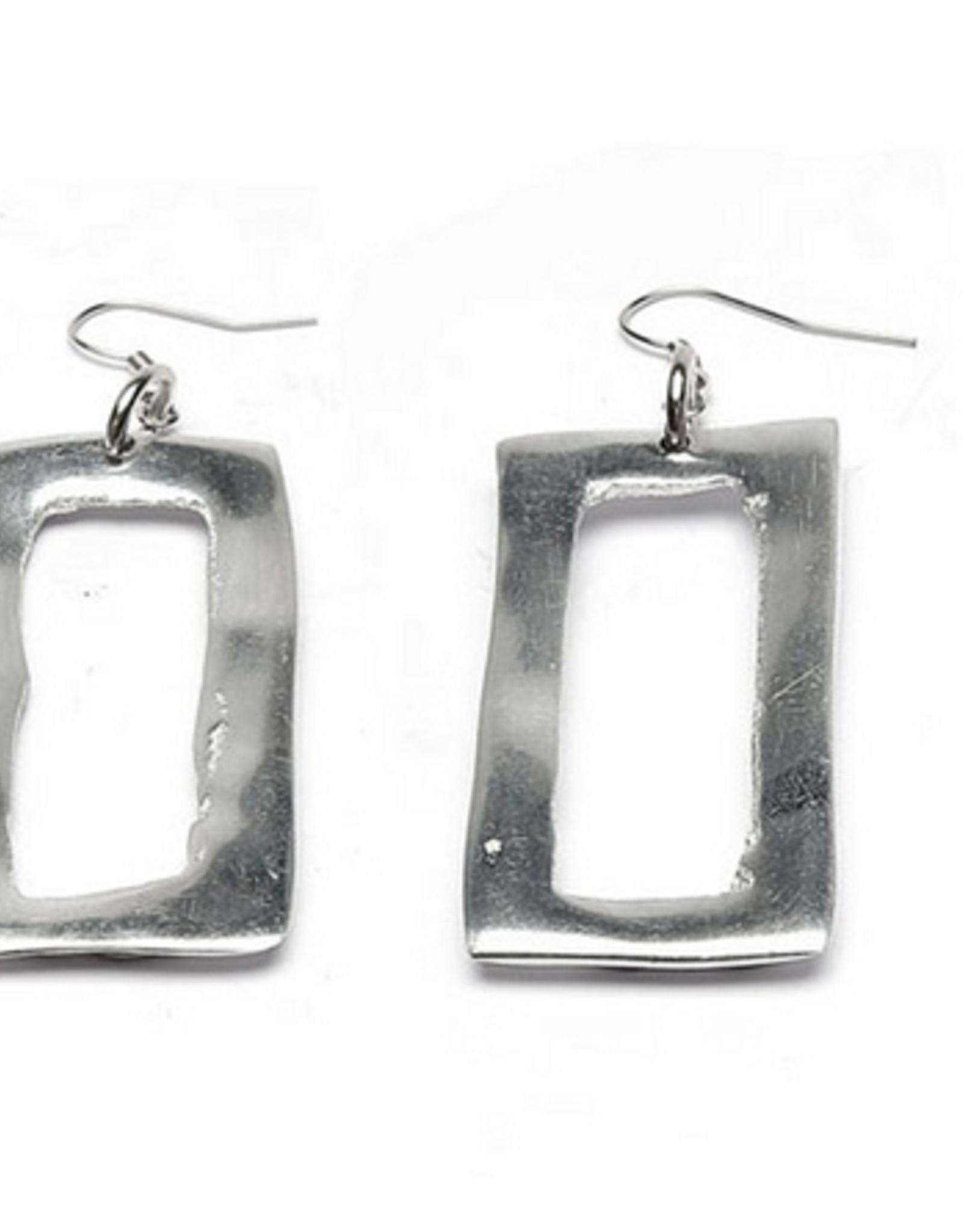 VESTOPAZZO Aluminum Rectangle Earrings