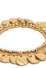 VESTOPAZZO Brass Coin Elastic Bracelet