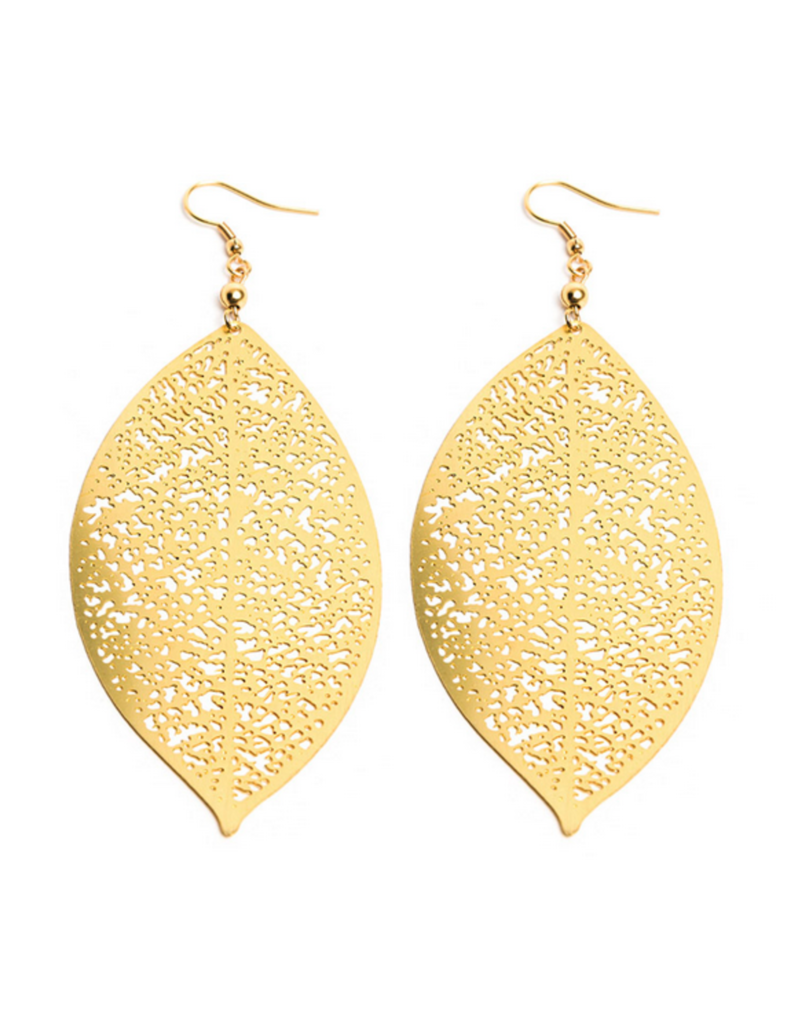 VESTOPAZZO Brass Leaves Earrings