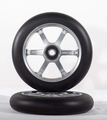TRYNYTY120MM WHEELS SILVER (2 PIECES)