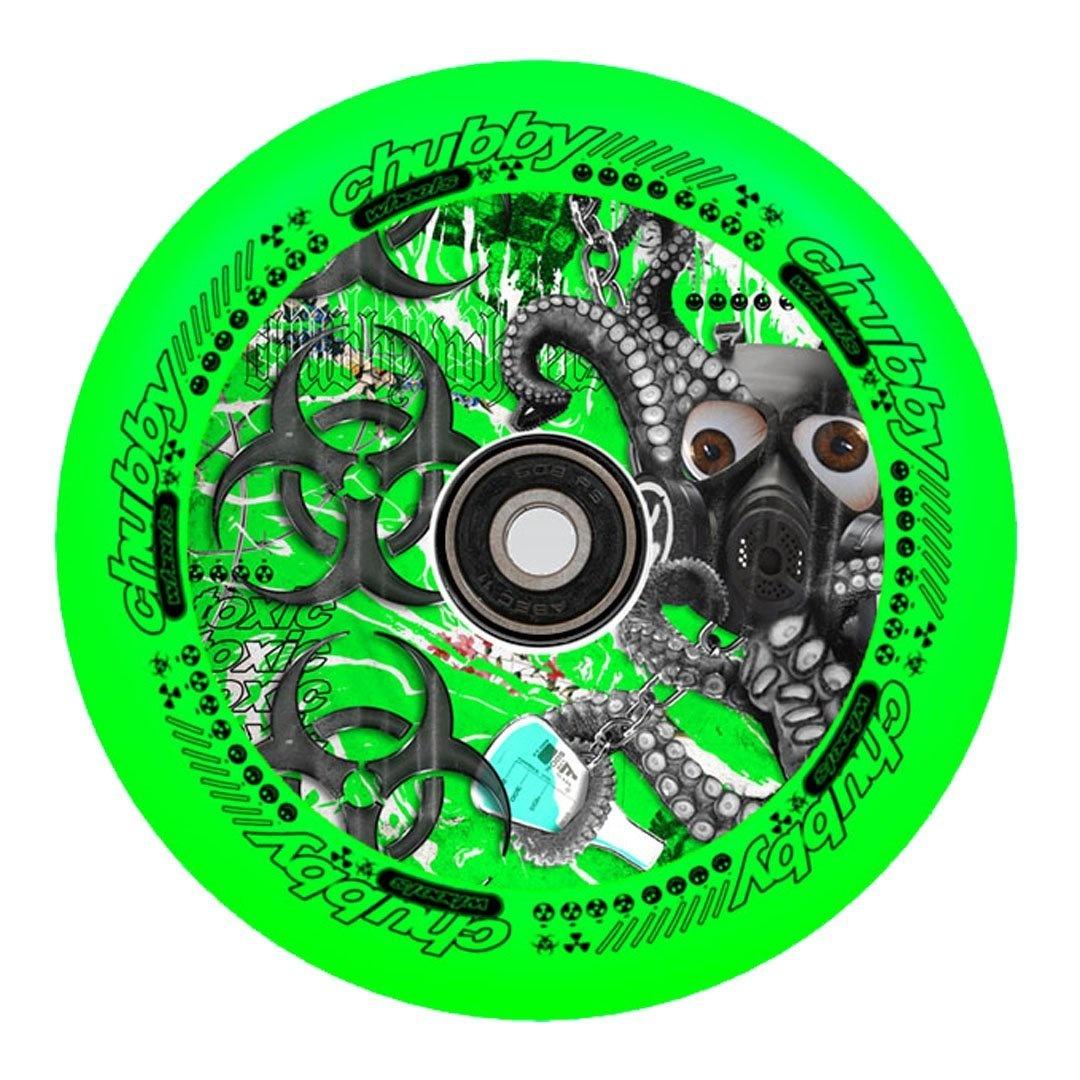 chubby lab wheels neon green