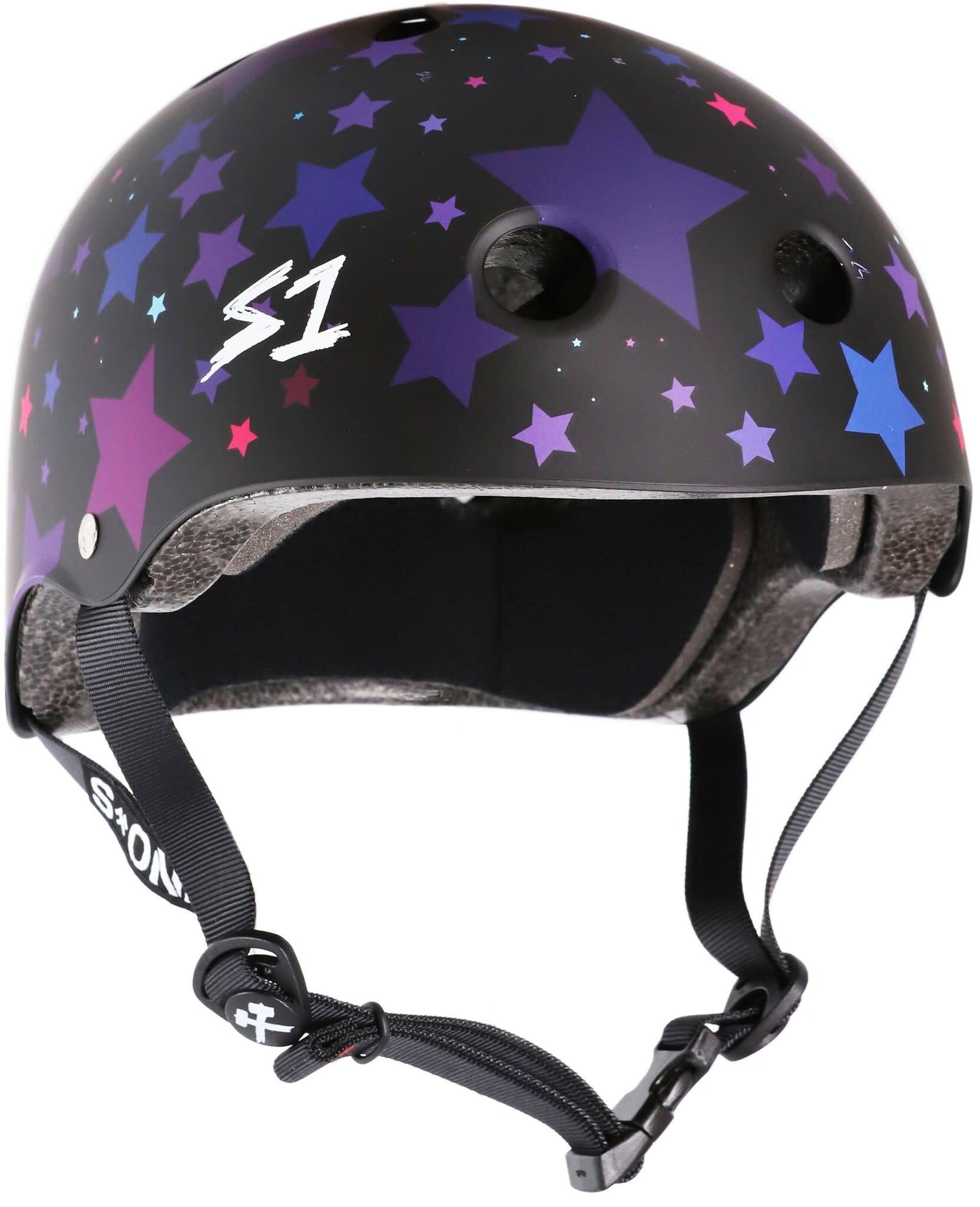 S1 S1 HELMET - BLACK MATTE/STARS